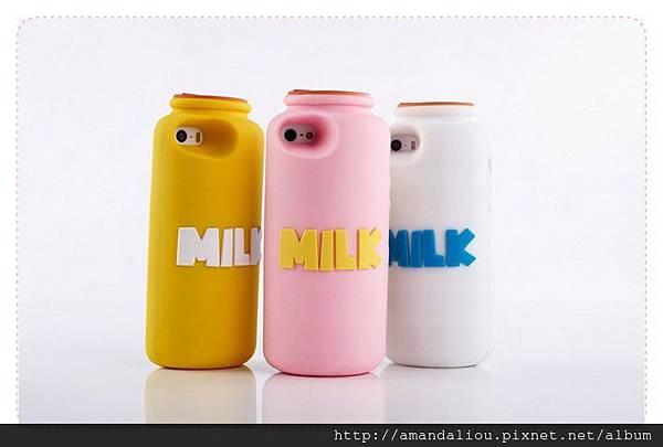 最新款iphone5 牛奶瓶手機殼保護套 milk原味牛奶正品299
