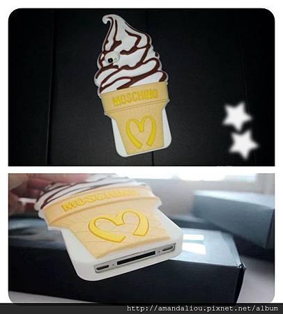 MOSCHINO最新款 ~ 麥當勞圓筒冰淇淋手機殼iPhone5/5S保護套蘋果4/4S矽膠套299
