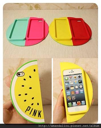 創意個性 ~ 夏日暢飲有籽西瓜手機殼 蘋果5矽膠套iphone5/5s保護套