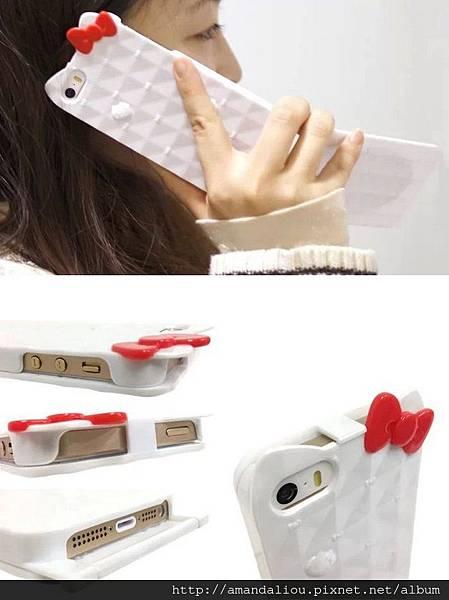 KT貓翻蓋鏡子手機殼iPhone5手機保護套蘋果5手機殼299