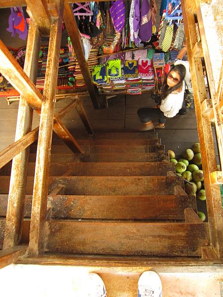 休息站陡峭樓梯