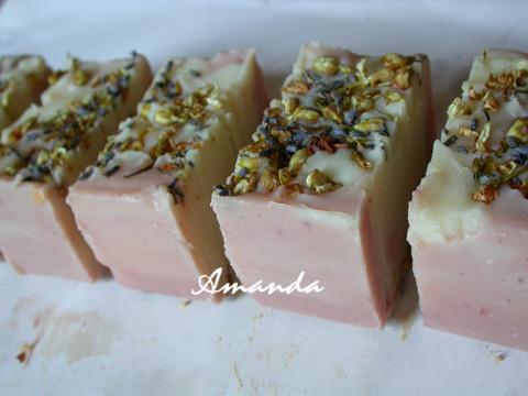 粉紅花香皂