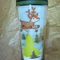 2008 聖誕雪花麋鹿杯8oz