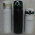 2010不鏽鋼隨身瓶-白500ML+黑500ML+白350ML