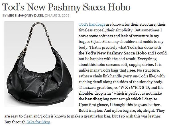 tods HOBO BAG