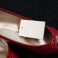 紅)UNIQLO娃娃鞋no.6 (36.5)  紅色 $890