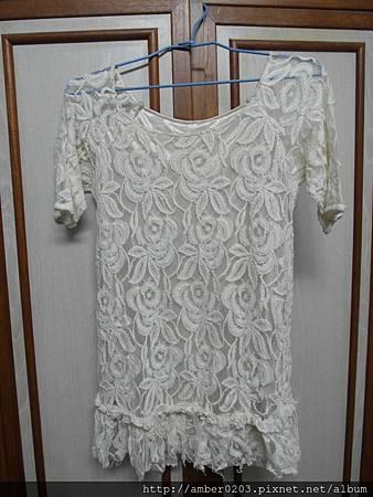米白氣質蕾絲洋裝