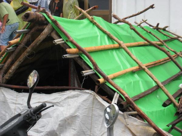 用竹藤蓋的房子