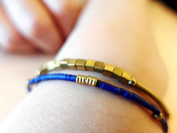 ❤~海藍年華~❤~極細天然石銅鍊~