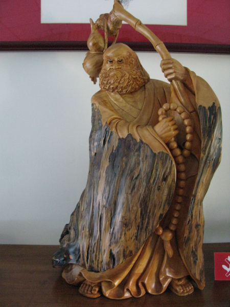 檜木雕刻達摩大師