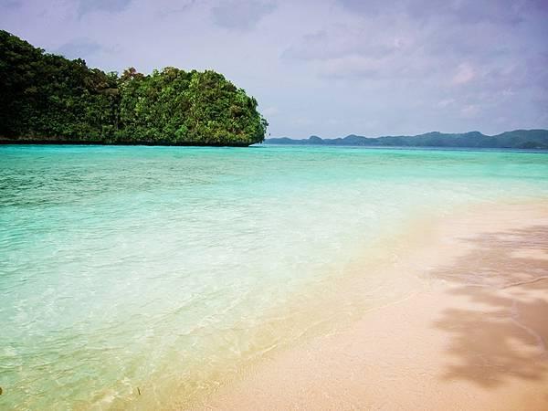 island with sunshine