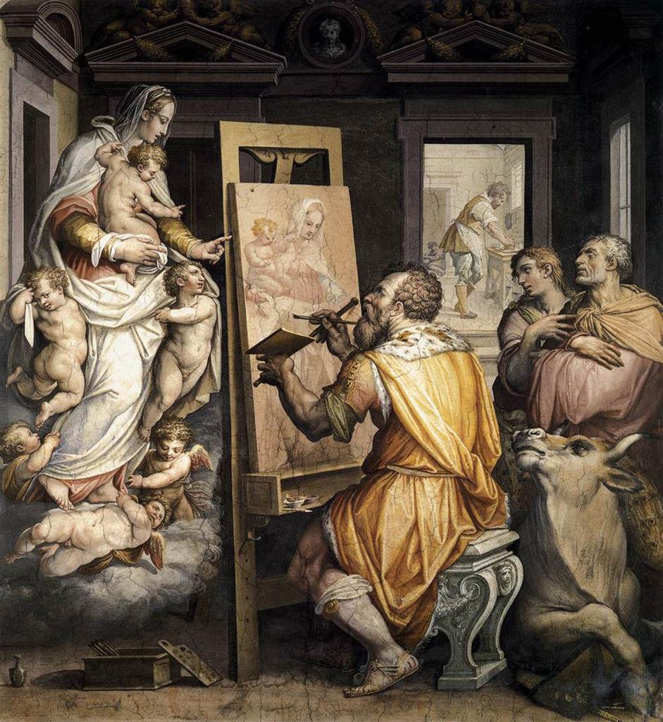 Giorgio_vasari,_san_luca_ritrae_la_vergine,_oratorio_di_san_luca,_annunziata