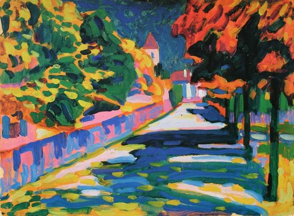 Kandinsky_1908_巴伐利亞之秋_33x44.7cm_(0062.51.ppt).JPG