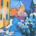 Kandinsky_1909_在Kochel教堂旁的墓園_44.4x32.7cm._(0062.23a.ppt).JPG