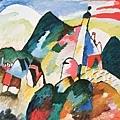 Kandinsky_1910_在Murnau有教堂的風景_96.5x105.5cm_(0062.57a.ppt).JPG