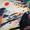 Kandinsky_1911_羅曼蒂克的風景_94.3x129cm._(0062.27a.ppt).JPG