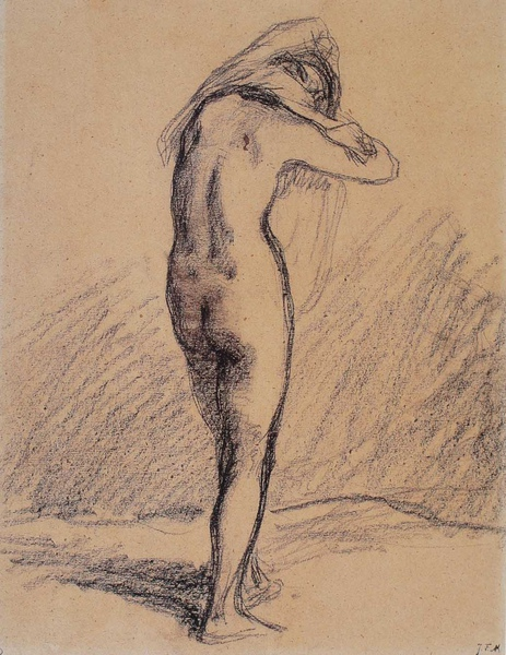 Millet_1847-48c._Study of a nude woman putting on her chemise_(0016.2b).JPG