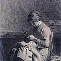 Millet_1853_Woman Mending_(0016.29b).JPG
