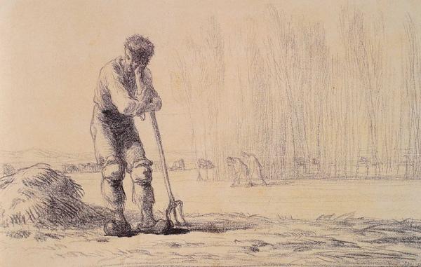 Millet_c.1848-50_Peasant leaning on a pitchfork_(0016.12b).JPG