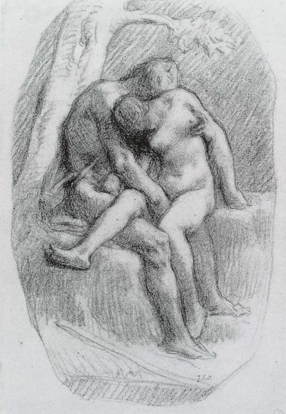 Millet_c.1848-50_The lovers_(0016.5b).JPG