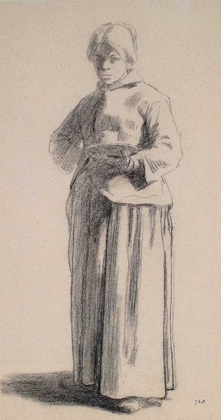 Millet_c.1850-53_Study of a woman holding a cup_(0016.28b).JPG