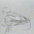 Millet_c.1851-53_Study of two men seated on a bale for Harvesters resting_(0016.24b).JPG