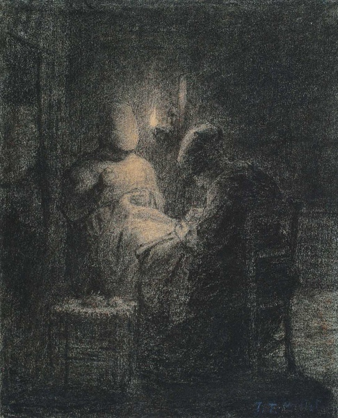 Millet_c.1853_Two woman sewing by lamplight_(0016.30b).JPG