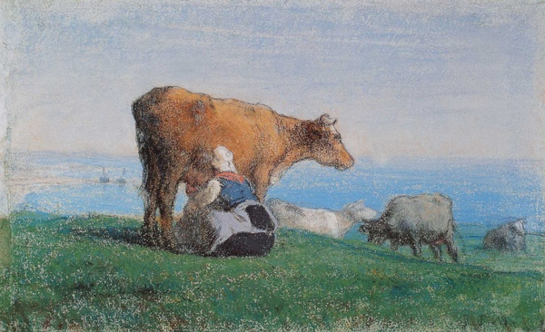 Millet_c.1854-57_Norman woman milking cows_(0016.34b).JPG