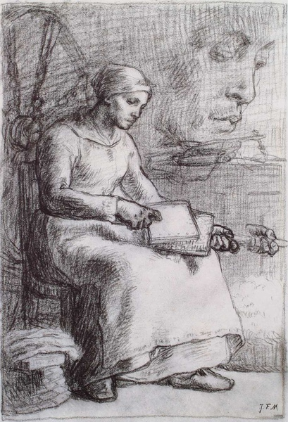 Millet_c.1855-56_Studies for The wool carder_(0016.44b).JPG