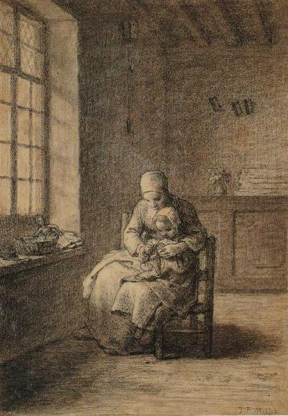 Millet_c.1855-56_The knitting lesson_(0016.50b).JPG