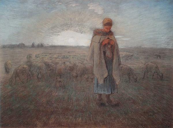 Millet_c.1870-74_The shepherdess_(0016.118a).JPG