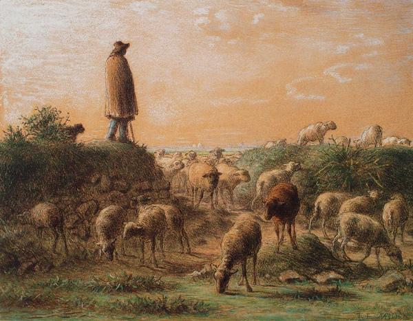 Millet_c.1863-66_Shepherd minding his his sheep_(0016.107a).JPG