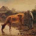 Millet_c.1863_Peasant woman watering her cow_(0016.61b).JPG