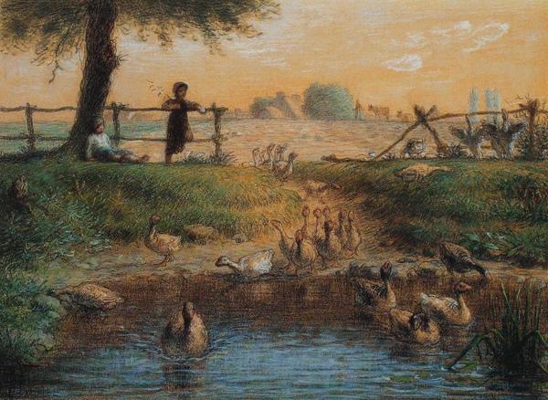 Millet_c.1865-68_Peasan children at a goose pond_(0016.109a).JPG