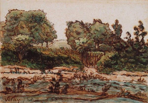 Millet_c.1866-67_The garden fence near Vichy_(0016.69b).JPG