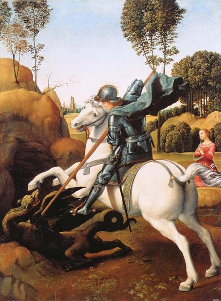 Raphael_1506_Saint George and the Dragon_29x21cm.JPG
