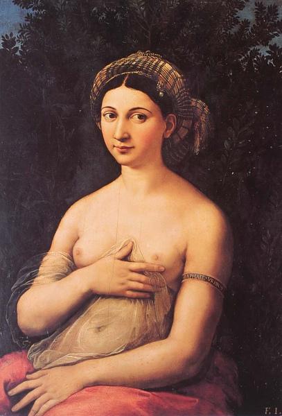 Raphael_1520_Portrait of a Young Woman(La Fornarina)_85x60cm.JPG