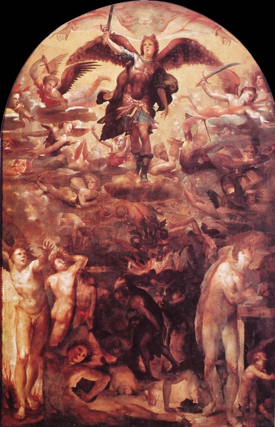 Domenico Beccafumi_ca.1524_Saint Michael Driving out the Rebellious Angels.JPG
