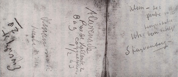 Van Gogh_1885年Antwerpen筆記_梅毒就診紀錄_(0023.168a).JPG