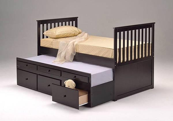多功能實木床架