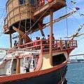 【遊】日本大阪《聖瑪利亞號》帆船型觀光船◆201707.白天觀光