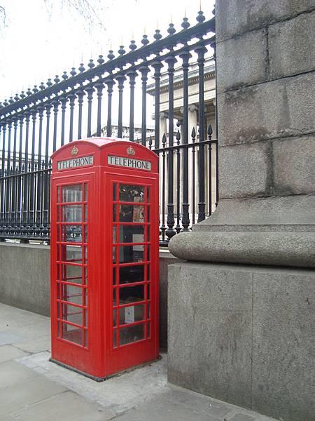 紅色電話亭!