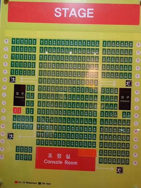 Bibap座位表