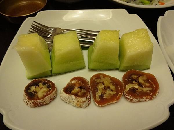 哈密瓜與柿餅