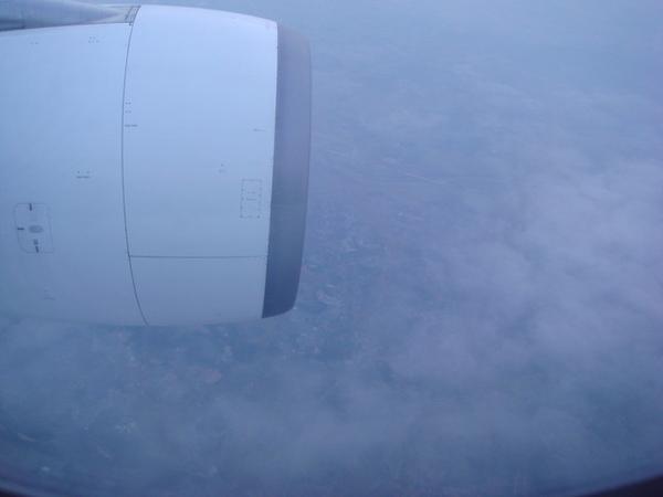 飛機上的雲海