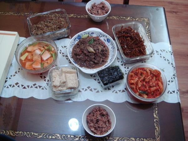 韓國家庭的晚餐