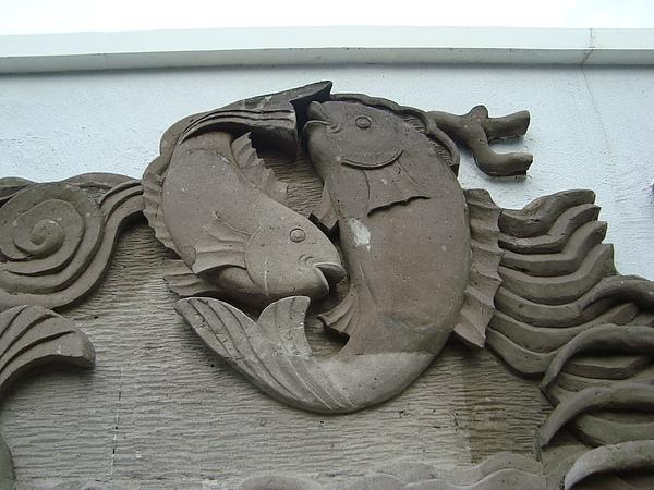 雙魚座石雕