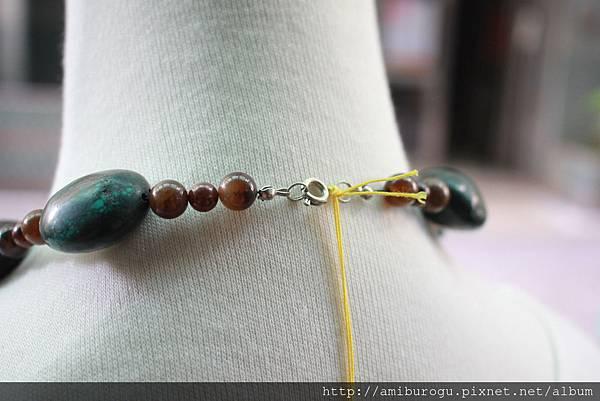筒狀珠紗.綠松石.紅碧玉-3