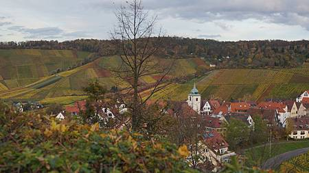 11/9 隨處可見童話般的美景: 葡萄園, 教堂, 紅色屋頂的小鎮