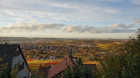 11/9 夕陽下的Stuttgart城